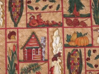 Details about Handmade Quilted Table runner Fall Cabin Thanksgiving