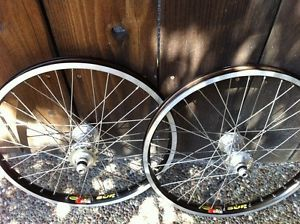 Custom BMX Wheelset Profile Hubs Mavic Sup Rims Old School BMX