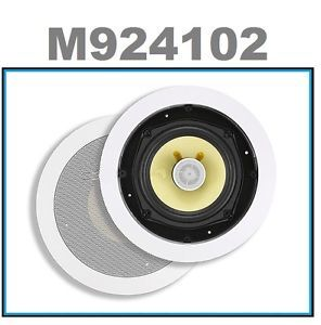 2 White Surround Sound Home Theater in Wall Ceiling Speakers 5 14 inch 100W Max