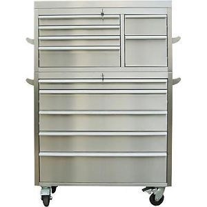 "41"" ★ Heavy Duty Professional Grade Stainless Steel Rolling Tool Chest"