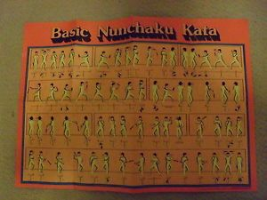 Basic Nunchaku Kata Instructional Poster