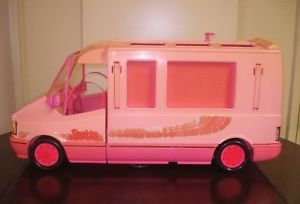 Vintage Barbie Doll Mattel 1988 Italy Pink Magical Motor Home Jeep Car
