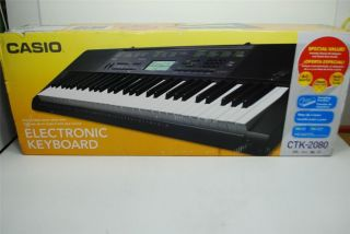 New Casio Electronic Keyboard CTK 2080 w Power Adapter Stand Quick Start Guide