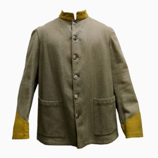 Civil War Southern Confederate Cavalry Sack Coat Jacket Soldier Costume Replica