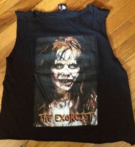 The Exorcist Linda Blair RARE 2 Sided Shirt Horror Satan Possession Devil Demon