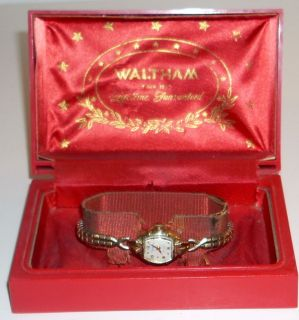 Vintage 14k Gold Waltham 17 Jewel Ladies Watch Case