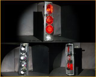 86 97 Nissan Hardbody Pickup D21 Tail Lights Rear Brake Lamps JDM Black LH RH G2