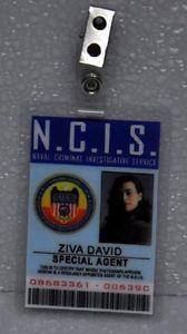 NCIS TV Series ID Badge Special Agent Ziva David