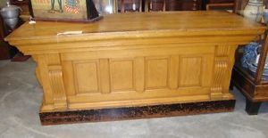 Antique Country Store Service Counter in Original Finish
