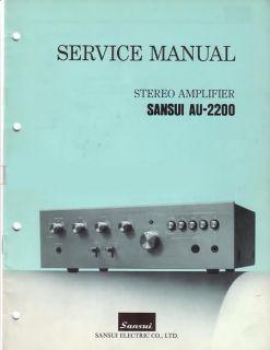 Sansui AU 2200 Stereo Amplifier Service Manual