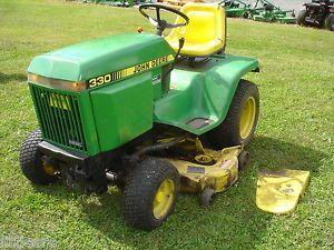 Used John Deere 330 Diesel Lawn Garden Tractor 48in Deck Very Nice Condition