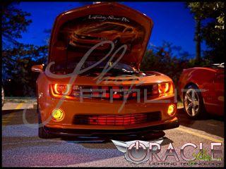 Chevrolet 10 13 Camaro LED White Green Angel Eyes Demon Halo Fog Light Bulbs Kit