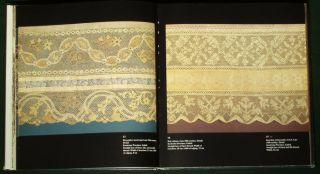 Book Antique Russian Bobbin Lace Metallic Folk Costume Textile Fashion Trim Art