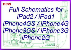 iPhone 4GS 4G 3GS 3G 2G iPad2 iPad1 Full Schematics Diagram Layout