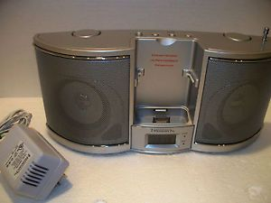 Emerson Research iP100 Portable Radio iPod Docking Station Boombox