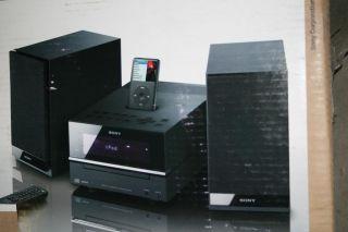 Sony New CMT BX20I Hi Fi Stereo Shelf Speaker System iPod Dock CD Player Radio