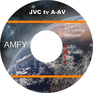 JVC TV Service Owners Manuals and Schematics on 2 DVD
