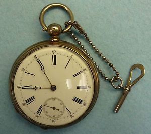K w K s 43 45 mm 800 Silver Case 1860 Pocket Watch Swiss Case Isto 17 Jewel