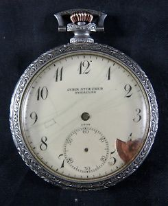 Zenith Pocket Watch with Art Deco Case 15 Jewel Swiss John Stoecker Syracuse