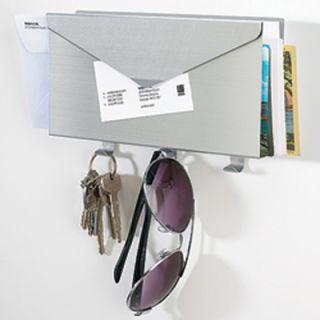 Umbra Lettro Mail Organizer Wall Aluminum Key Holders Box Keyholder Letter Rack