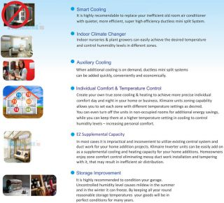 18 000 BTU Ductless Air Conditioner 1 5 Ton Mini Split AC 18000 16' Install Kit