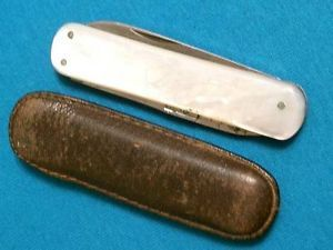 Antique Ja Henckels Solingen Germany MOP Pearl Pen Knife Knives Scissors Tools
