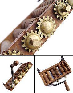 RARE Antique Pasta Maker Primitive Kitchen Tool Machine Brass Gears Steampunk