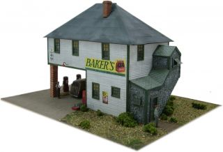 Railroad Kits HO Scale FSM Baker's Country Store Fine Miniatures Structure Kit