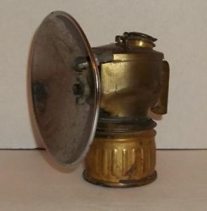 Antique Streamlined Justrite Carbide Coal Mining Lamp Miner's Lamp Light Pat Pen