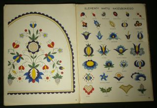 Polish Hand Embroidery Pattern Kaszuby Folk Art Ethnic Textile Design Poland Art