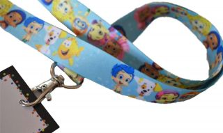 12 Bubble Guppies Birthday Party Favor Keychain Lanyards w Name Cards