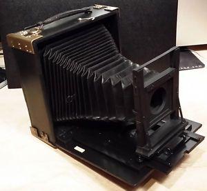 5x7 Wood Film Plate Folding View Camera Large Format German RARE