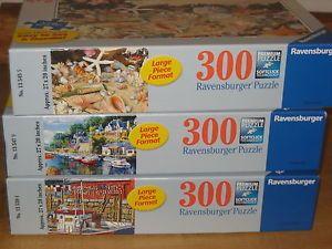 Ravensburger Puzzles 3 300 Piece Each Large Format