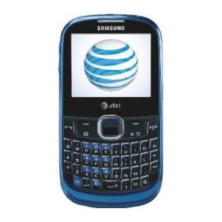 New unlocked samsung sgh a187 qwerty gsm blue phone att tmobile simple