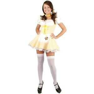 Goldee Locks Teen Junior Preteen Tween Goldilocks Fairy Tale Halloween Costume