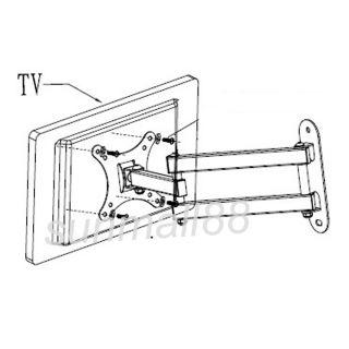 "Sunydeal Articulating Tilt Swivel LCD LED TV Wall Mount 15 18 19 22 23 24 27"" US"