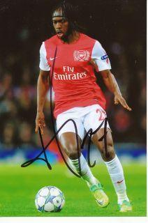 Gervinho Arsenal London auf Foto Mit Unterschrift 84979