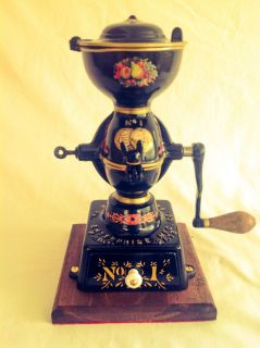 Enterprise 1 Coffee Grinder Restored RARE Fruit Design