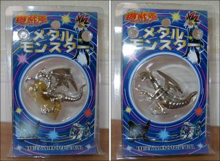 Yu Gi Oh Red Eyes B Black Blue Eyes White Dragon Chrome Metal Monster Toy Figure