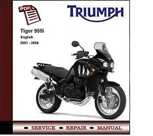 Triumph Tiger 955i 2001 2006 Workshop Service Manual