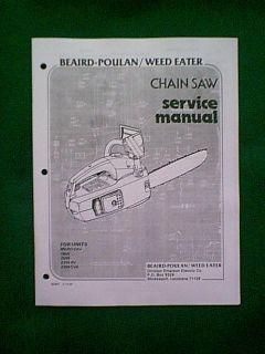 Poulan Chain Saw Micro XXV 1800 2000 2300AV 2300CVA Service Manual