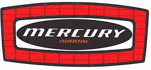 Mercury Marine Logo Decal Sticker on Chrome 10 inches Long New