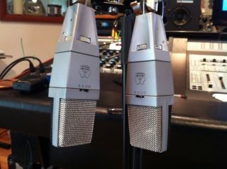 Pair of Vintage AKG C414 Microphones Sequential Serial Numbers Extremely RARE