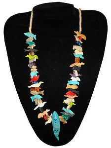 Corn Maiden Multicolored Fetish Necklace Native American Design