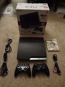 PlayStation 3 PS3 Console 160 GB CECH 2501A w 2 Controllers Nice Bundle