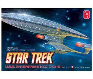 AMT Star Trek USS Enterprise NCC1701D Clear Edition Model Kit 1 1400