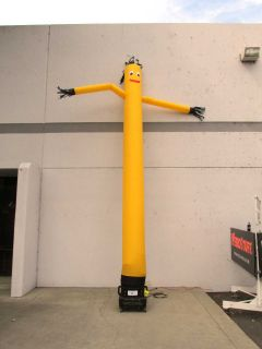 Torero Solar Yellow 20ft Sky Dancer Inflatable Flailing Arm Tube Man w Blower