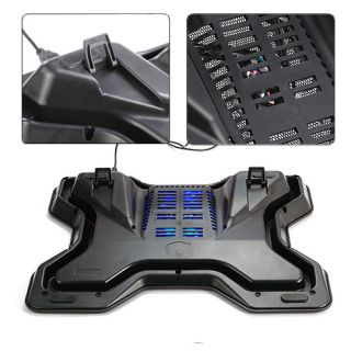 Notebook Laptop Cooling Pad Cooler Fan w Speed Control