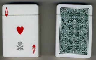 DAL Negro Treviso Green Deck Case 100 Plastic Playing Cards Made in Italy