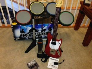 PS3 Rock Band 2 and 3 Bundle Wireless Mustang Pro Guitar